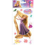EK Success - Disney Collection - 3 Dimensional Stickers Epoxy Foil Gem and Glitter Accents - Rapunzel 2