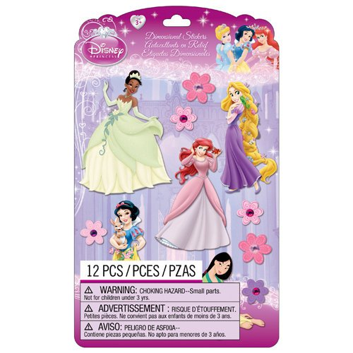 EK Success - Disney Collection - Princess - 3 Dimensional Stickers with Gem and Glitter Accents - Group 1