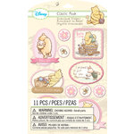 EK Success - Disney Collection - Classic Pooh - 3 Dimensional Stickers with Gem and Glitter Accents - Girl