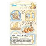 EK Success - Disney Collection - Classic Pooh - 3 Dimensional Stickers with Glitter Accents - Boy