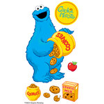 EK Success - Sesame Street Collection - 3 Dimensional Stickers with Epoxy and Varnish Accents - Cookie Monster