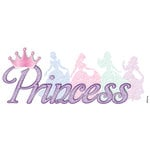 EK Success - Disney Collection - 3 Dimensional Stickers with Epoxy Gem Glitter and Varnish Accents - Princess Glitter