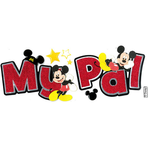 EK Success - Disney Collection - 3 Dimensional Title Stickers with Epoxy and Glitter Accents - Mickey My Pal
