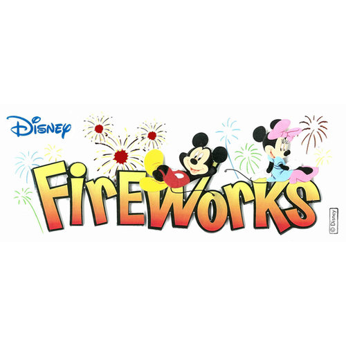 EK Success - Disney Collection - 3 Dimensional Title Stickers with Epoxy and Foil Accents - Fireworks