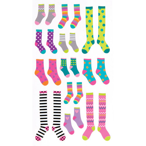 EK Success - Sticko Classic Stickers - Crazy Socks