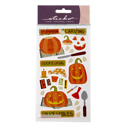 EK Success - Sticko Seasonal Stickers - Halloween - Goofy Grins