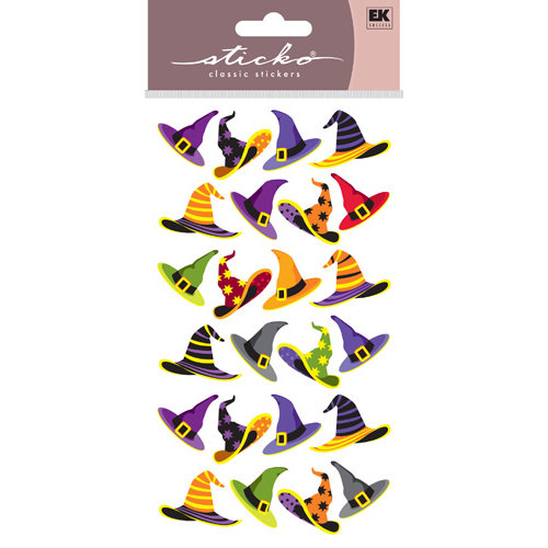 EK Success - Sticko Classic Stickers - Halloween - Witch Hats