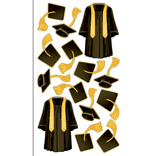 EK Success - Sticko Graduation Collection - Stickers - Cap N Gown