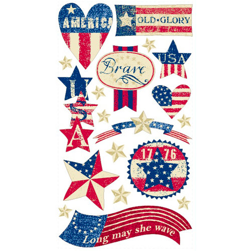 EK Success - Sticko Patriotic Collection - Stickers - Stars and Stripes