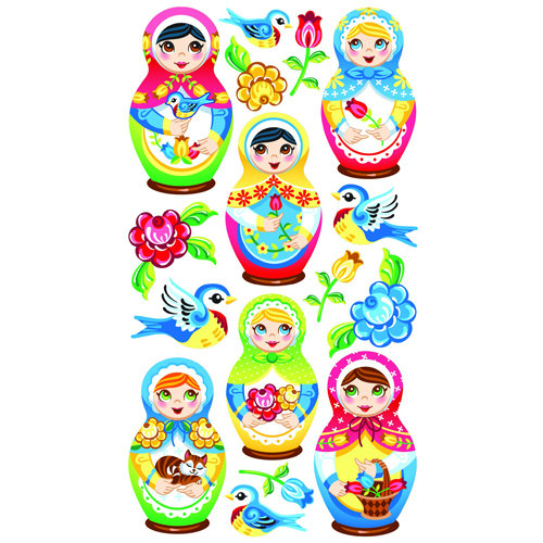 EK Success - Sticko Classic 58 Stickers - Babushka Babies