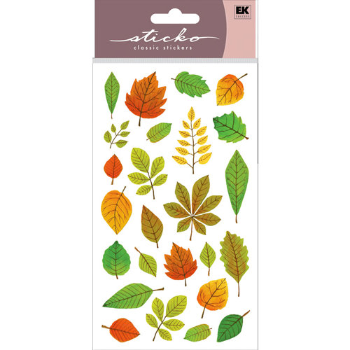 EK Success - Sticko Classic 58 Stickers - Elegant Fall Leaves