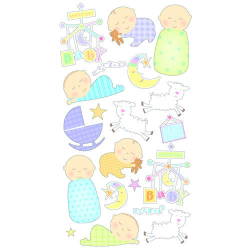 EK Success - Sticko Classic 58 Stickers - Sleepy Time