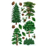 EK Success - Sticko Classic Collection - Stickers - Majestic Trees