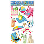 EK Success - Sticko Classic Collection - Stickers - Beach Time, CLEARANCE