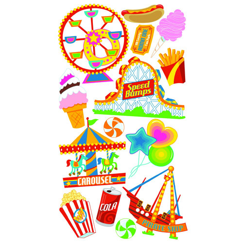 EK Success - Sticko Classic 58 Stickers - Amusement Park