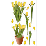 EK Success - Sticko Photo Flowers Collection - Stickers - Yellow Tulips