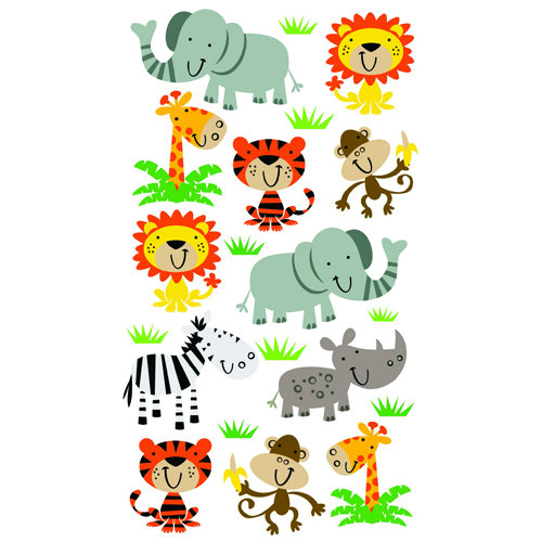 EK Success - Sticko Classic 58 Stickers - Zoo Cuties