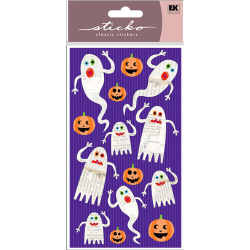 EK Success - Sticko Classic Stickers - Halloween - Ghostly News
