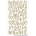 EK Success - Sticko Alphas Stickers - Glitter - Small - Sweetheart Script - Gold