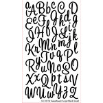EK Success - Sticko Alphas Stickers - Glitter - Small - Sweetheart Script - Black