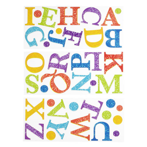 EK Success - Sticko Varnish Stickers - Alphabet - Large - Vladi's