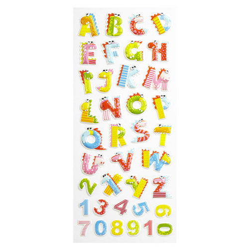 EK Success - Sticko 3 Dimensional Stickers - Alphabet and Numbers - Large - Dino