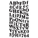 Sticko Stickers - Alphabets and Numbers - Calent - Small - Black by EK Success