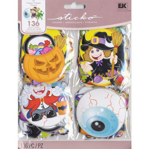 EK Success - Sticko Seasonal Stickers - Extra Large - Halloween Treat