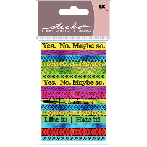 EK Success - Sticko Functionality - Stickers - Tape Strips - Pattern