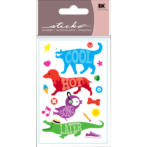 EK Success - Sticko Functionality - 3 Dimensional Stickers - Cool Cat