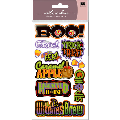 EK Success - Sticko Classic Stickers - Halloween - Halloween Title Waves