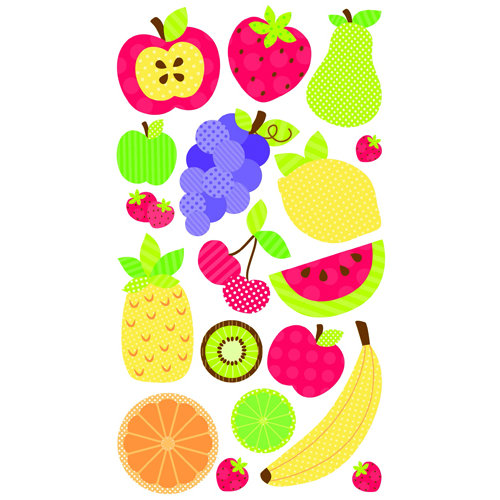 EK Success - Sticko Sparkler Stickers - Fruit Galore