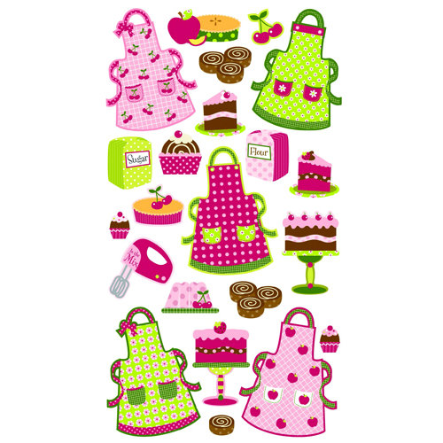 EK Success - Sticko Sparkler Stickers - Patterned Aprons