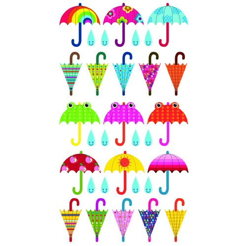 EK Success - Sticko Sparkler Stickers - Patterned Umbrella Repeats