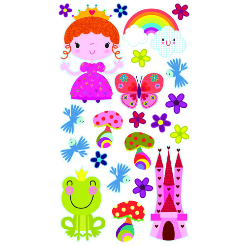 EK Success - Sticko Sparkler Stickers - Princess