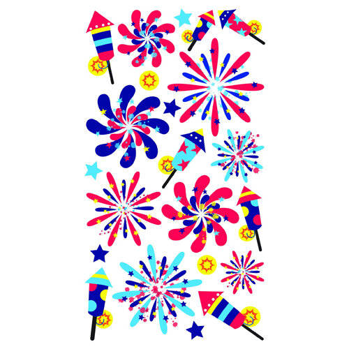 EK Success - Sticko Sparkler Stickers - Fireworks Show