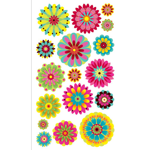 EK Success - Sticko Sparkler Stickers - Summer Petals