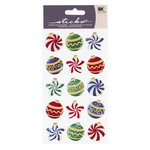 EK Success - Sticko Sparkler Stickers - Christmas - Colorful Ornaments