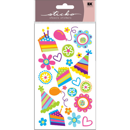EK Success - Sticko Sparkler Stickers - Pretty Party