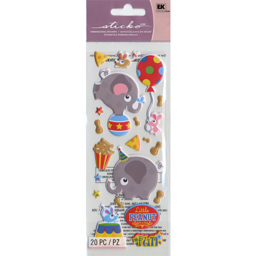 EK Success - Sticko Puffy Stickers - Little Peanut