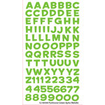EK Success - Sticko Alphas Stickers - Metallic - Funhouse - Green