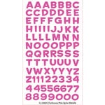 EK Success - Sticko Alphas Stickers - Metallic - Funhouse - Pink