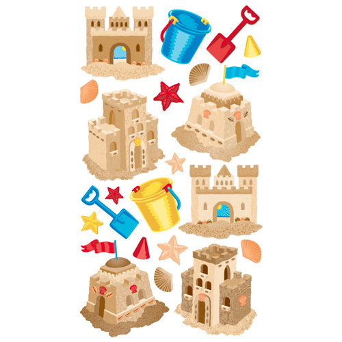 EK Success - Sticko Classic Collection - Stickers - Sand Castles