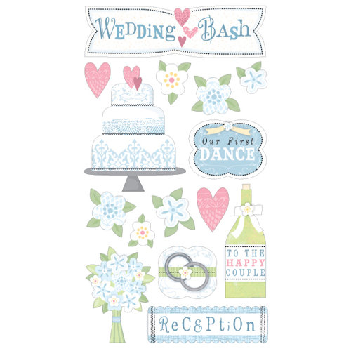 EK Success - Sticko Classic Collection - Stickers - Wedding Bash