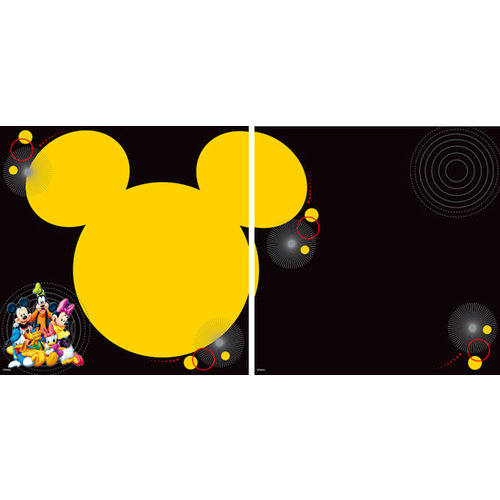 EK Success - Disney Collection - 12 x 12 Double Sided Paper with Varnish Accents - Mickey and Friends Characters