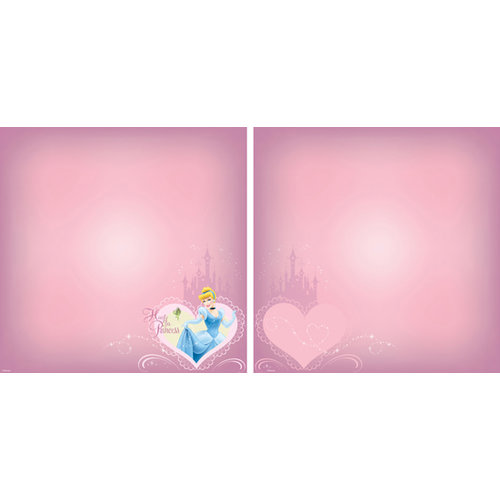 EK Success - Disney Collection - 12 x 12 Double Sided Paper with Varnish Accents - Cinderella Heart