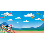 EK Success - Disney Collection - 12 x 12 Double Sided Paper with Varnish Accents - Mickey Park
