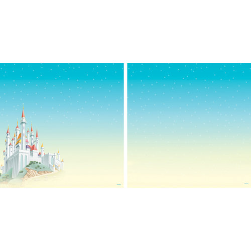 EK Success - Disney Collection - 12 x 12 Double Sided Paper with Varnish Accents - Princess Castle