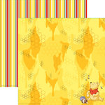 EK Success - Disney Collection - 12 x 12 Double Sided Paper with Varnish Accents - Pooh Eating Honey