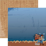 EK Success - Disney Collection - 12 x 12 Double Sided Paper with Varnish Accents - Toy Story - Woody Justice
